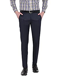 D52 Men's Navy Stretchable Skinny Fit Formal Trouser