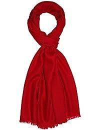 Lorenzo Cana Italian Scarf Pashmina 100% Cashmere Shawl 79'' x 27'' Red 7829911