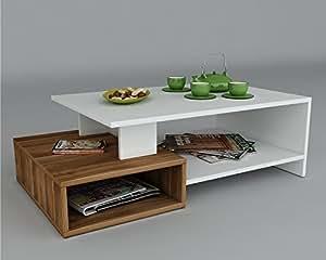 Dux tavolino basso da salotto bianco noce materiale in legno tavolino da divano - Tavolino divano moderno ...