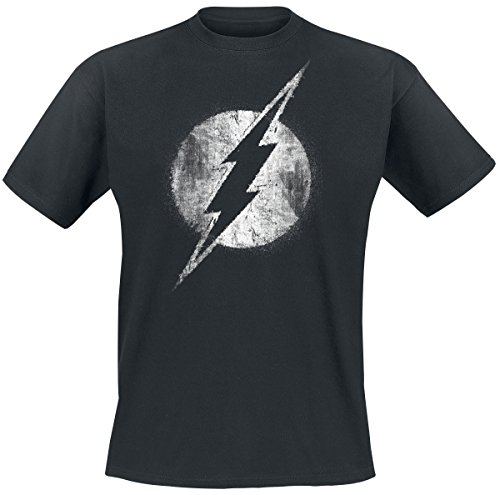 The Flash Logo Mono Distressed T-Shirt schwarz XXL (Logo Distressed T-shirt Blue)