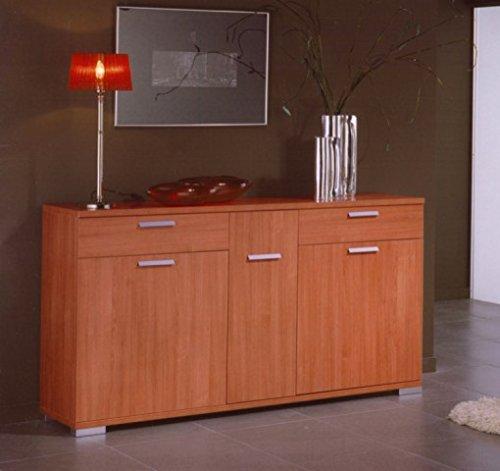 Aparador buffe para tu salón color Cerezo 160x40x88cm.