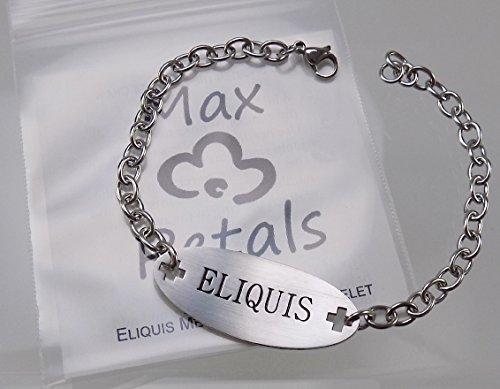 Imagen de max petals–pulsera de identificación médica de acero inoxidable con cadena de 225mm y texto