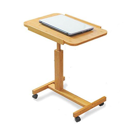 Classics Mobiler Laptop-Tischwagen, Stahl, Holzfarbe, 60x40x94 Cm (größe : 60cm)