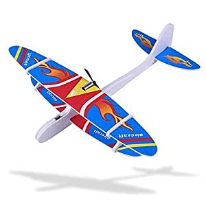 DE Cool ICW Hand Throw Flying Glider Planes Foam Airplane Model Toys Game Glider Fall-Resistant Foam Airplane Toy for Kids