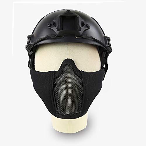 QZY Acero Malla Protectora Máscara Táctica Rápido Casco Ejército Militar Estilo para...