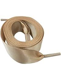 Goodnews 2cm di larghezza Moda lacci in raso nastro lacci piatto raso largo  nastro lacci per scarpe sportive Sneakers… 401191cf1fc
