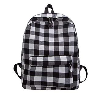 LSAltd Mode Frauen im Freien einfache Leinwand Reißverschluss Kontrastfarbe Rucksack Reisetasche