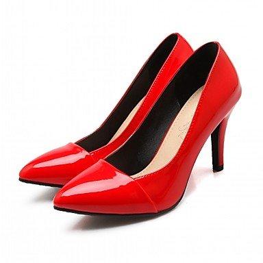 Talloni delle donne Primavera Autunno Comfort in similpelle per ufficio e del partito Carriera & abito da sera tacco a spillo nero blu rosso Black