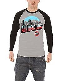 All Time Low Baltimore band logo nouveau officiel Homme T-shirt de basebal