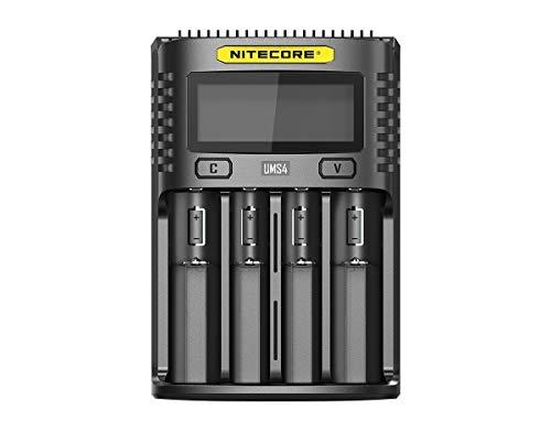 Nitecore Universal Ladegerät UMS4 3000 mA USB Erwachsene Unisex schwarz L 159 x B 107 x H 41