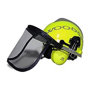 Woodsafe® forestry helmet yellow - folding visor, ear protection, neck protection - forestry helmet