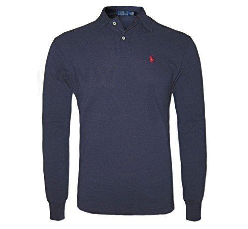ralph-lauren-polo-manches-longues-coupe-classique-noir-bleu-marine-rouge-blanc-hommes-m-bleu-marine