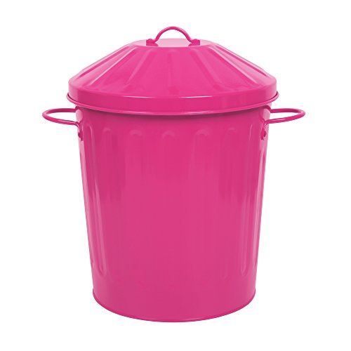 Westeng Mini Creative Desktop Swing Trash Can Small Plastic Waste Garbage Trash Bin for Home Office Living Room Blue