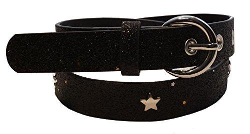 Cintura 'rockstar' per bambini della scuola materna e della scuola elementare (fianchi 57-72 cm), nera