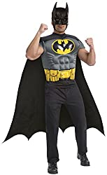 Batman Muscle Shirt Cape Adt
