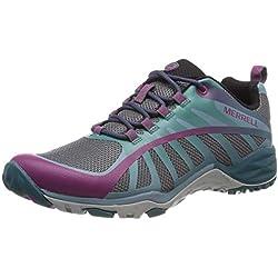 Merrell Siren Edge Q2, Zapatillas de Senderismo para Mujer, Multicolor (Clover/Smoke), 37.5 EU