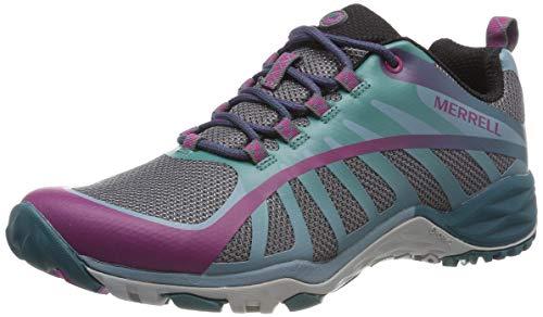 Merrell Siren Edge Q2, Zapatillas de Senderismo para Mujer, Multicolor (Clover/Smoke), 37 EU
