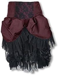 Burlesque tafetán falda Borgoña