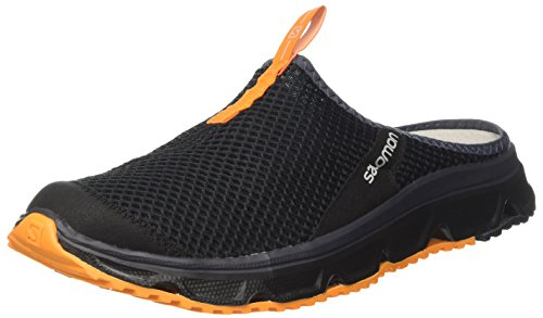 Salomon Herren RX Slide 3.0 Halbschuhe, Schwarz/Orange (Black/Black/Bright Marigold), Gr. 44