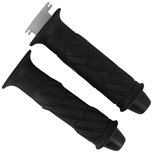 Xfight-Parts Handgriffgummi Paar mit Endkappen Kegel 22-24mm Laenge 140mm