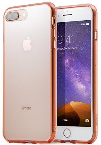 Ringke [Fusion]–Custodia Apple iPhone 7Plus/iPhone 8Plus, Trasparente, Materiale PC/TPU, paraurti [tecnologia di assorbe gli urti] biseles di copertura–Rose Gold Crystal