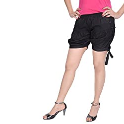Soundarya Womens Regular Fit Pants (HP4, Black)