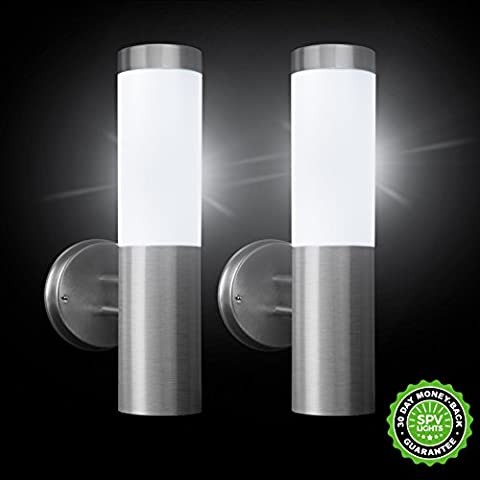 Oscar Solar Wall Lights (Set of 2) by SPV Lights: The Solar Lights & Lighting Specialists (Free 2 Year Warranty Included)