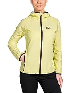 Jack Wolfskin Damen Softshelljacke Turbulence Jacket Women, Lemonade, XS, 1301242-3073001