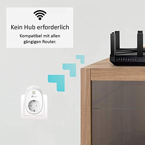 TP-Link HS110(EU) intelligente WLAN Steckdose (mit Verbrauchsanzeige, funktioniert mit Amazon Alexa [Echo, Echo Dot], mit App Steuerung überall und zu jeder Zeit) - 3