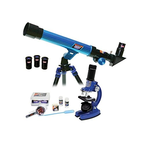 Micro-Science 20721 Deluxe Set Mikroskop und Teleskop in Tragetasche