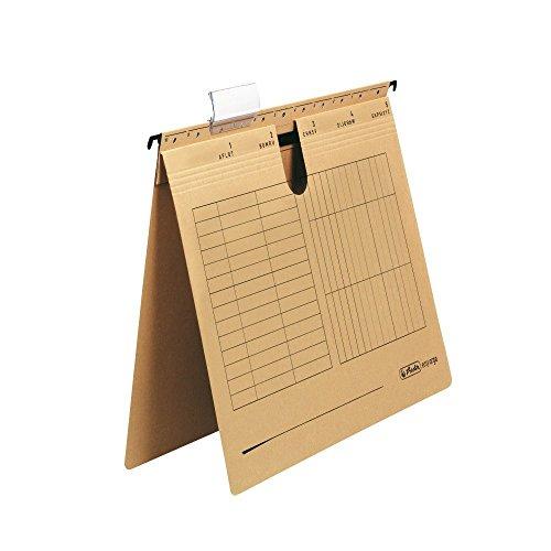Herlitz 10843381 Hängehefter A4, Kraftkarton, kaufmännische Heftung (2 Kartons = 50 Stück)