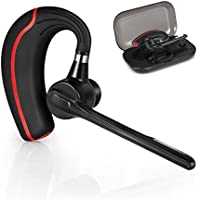 Bluetooth Headset -neue Version Kabelloses Headsets Bluetooth Kopfhörer mit Mic Mute Switch, LKW-Fahrer Freisprecheinrichtung Bluetooth Ohr Kompatibel für iPhone Handy Headset (Spoon_Headset)