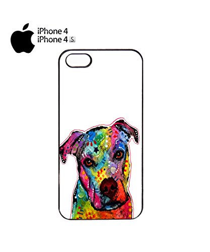 Dog Animal Doggie Cute Painting Mobile Cell Phone Case Cover iPhone 5c White Noir