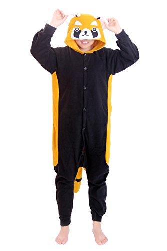 Re-Miss Raccoon Cosplay Pyjamas Schlafende Kleidung Kigurumi fuer Fancy Dress & Periode Kostüme Halloween Weihnachten (Halloween Kostüme Periode)