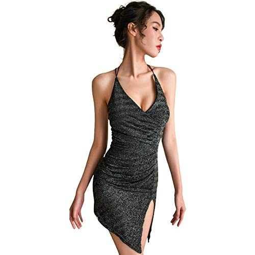 f75aef8ab78d ESZH Sexy Lingerie Sexy Fun À L'intérieur De Vêtements Lumineux Soie Rosée  Sac À Dos Hip Night Shop Chargé Passion Tentation Uniforme Costume Femme ...