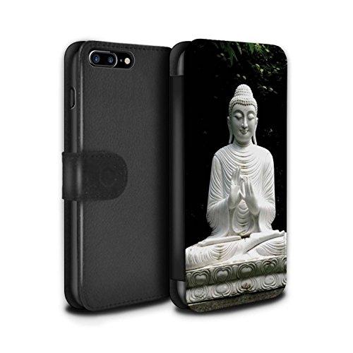 STUFF4 PU-Leder Hülle/Case/Tasche/Cover für Apple iPhone 7 Plus / Auswuchten Steine Muster / Innerer Frieden Kollektion Stein Buddha