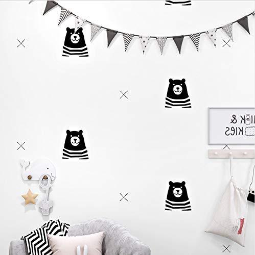 Nordic Bande Dessinée Ours Papier Pur Chambre Enfants Papier Peint Décor À La Maison Enfants Garçons Chambre Salon Papiers Peints pour Les Murs 0.53X10M