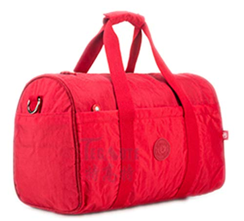 Nylon Wasserdichte Frauen Reisetaschen Große Kapazität Damen Gepäck Reisetasche Taschen Reisetaschen Baby Bag 282 red (Baby Kenneth Cole Taschen)