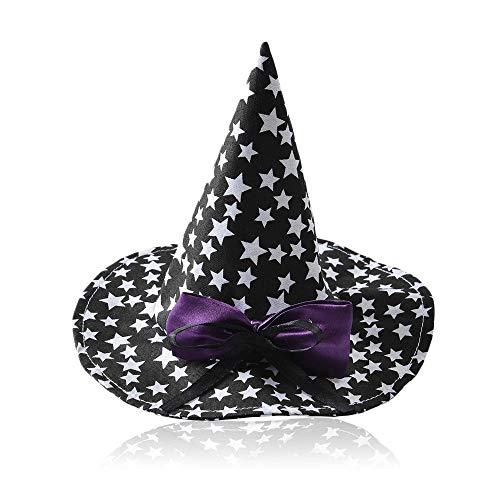 Aolvo Hut für Hunde und Katzen, Halloween-Kostüm, bequem, Hexenkostüm, Zauberer Kostüm, dekorativ, lustige Hut/Kappe für Hunde, Katzen, Halloween, Weihnachten, Party, Cosplay