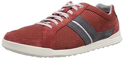 Clarks  Godney Street, Sneakers basses homme - Rouge - Rot (Red Nubuck), 47 EU