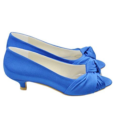 Minitoo , Peep-Toe femme Bleu - bleu