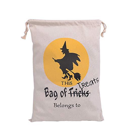 1 Beutel Halloween Taschen, Unfug Süßigkeiten Taschen, Seil Nachteil Geschenk-Taschen, Kürbis Taschen für Halloween-Geschenke -S04