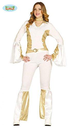 80er Jahre Pop Star Kostüm für Damen Gr XS/S und M, Größe:M