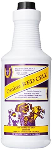 Horse Health Red Cell Canine Liquid Vitamin Mineral Dog Supplement Fortified Qt