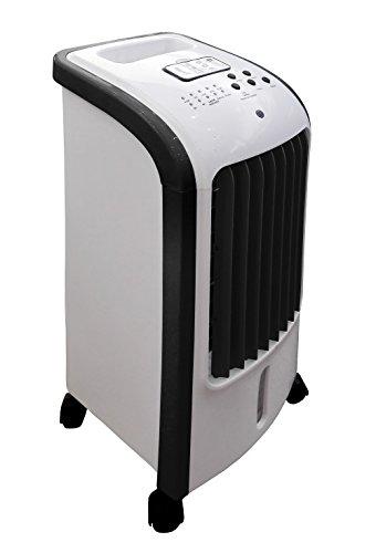 Ardes AR5R05 Eolo Mini Raffrescatore Evaporativo d'Ambiente 3 Livelli di Velocità Con Ruote Timer e Telecomando Bianco Nero