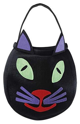 Halloween Betteltasche Katze - lustig und gruselig zugleich