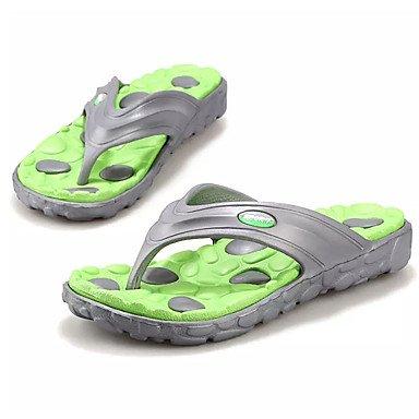 Athletic Shoes Primavera Autunno Coppia Scarpe da uomo Tulle casuale Tallone piano Lace-up Nero / Blu Nero sandali US8.5-9 / EU41 / UK7.5-8 / CN42