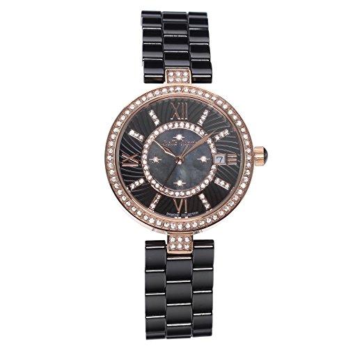 Stella Maris Damen Armbanduhr - Analog Quarz - Premium Keramik Armband - Perlmutt Zifferblatt - Diamanten und Swarovski Elemente - STM15SM4