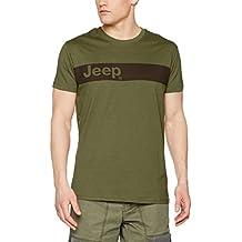 Jeep - Camiseta Horizontal Jeep logo stripe J7S - Green/Carbon Brown - L