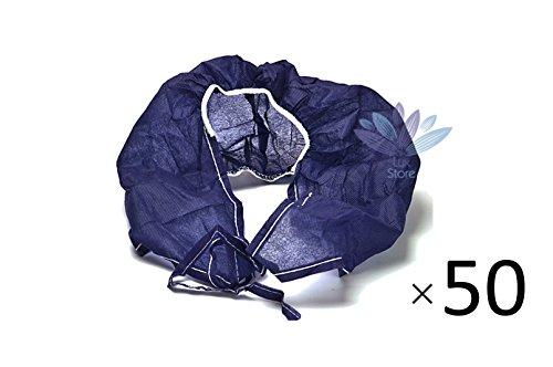 One Size monouso Spa Salon Adult Top Tie cinghie abbronzatura Bra per le donne-50 Pack - Blu